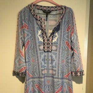 BCBG paisley tunic style dress